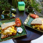 Freshly cooked delicious breakfast is served at your terrace